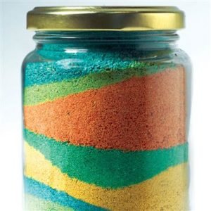 sand in a jar